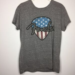 🎆🇺🇸LUCKY BRAND X FENDER Collab Graphic Tee Flag